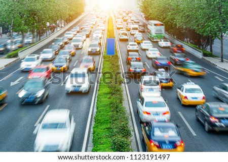 Traffic and transportation in modern cities #1123191497
