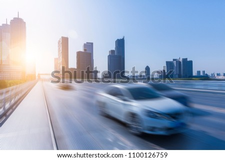 Traffic and transportation in Tianjin city of China #1100126759