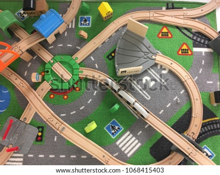 Traffic and transportation represented by toys #1068415403