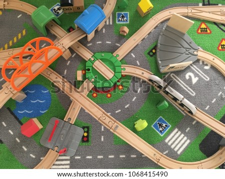 Traffic and transportation represented by toys #1068415490
