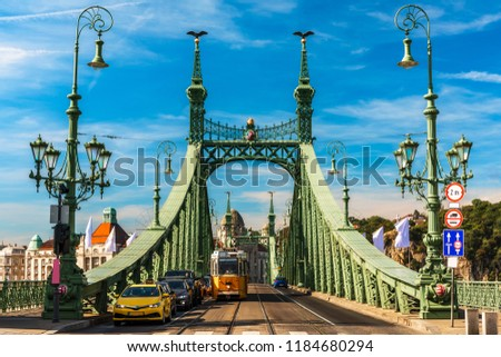 Traffic at the Liberty Bridge, Budapest