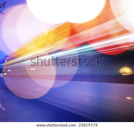 Traffic background. Blurred motion, shalow DOF.