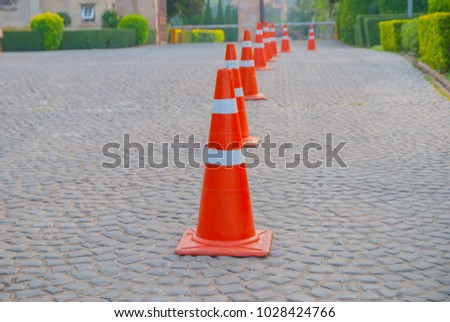 traffic  cone in Thailand #1028424766
