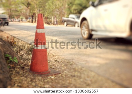 traffic cone on road #1330602557