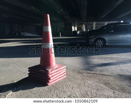 traffic Cone put in car park #1050862109