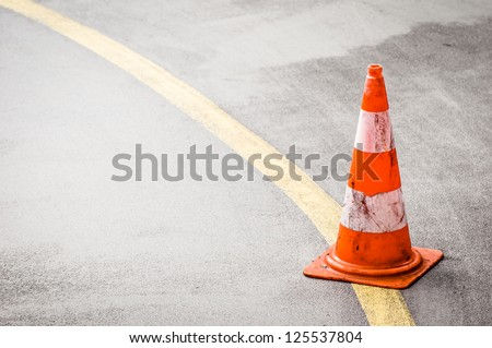 traffic cone with space for text