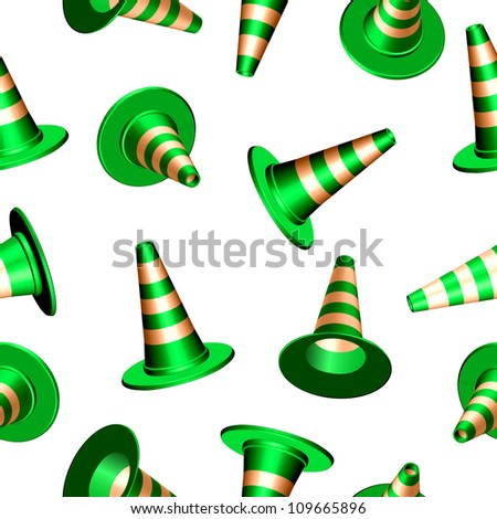 traffic cones with round base texture, abstract seamless pattern; art illustration