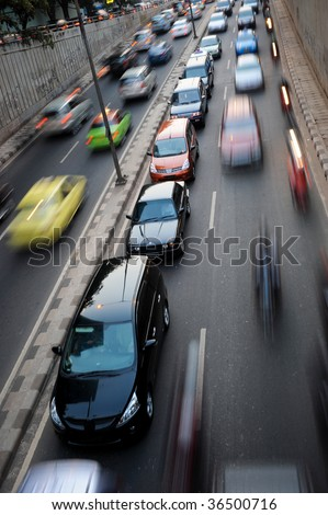 Traffic congestion in Jakarta, Indonesia