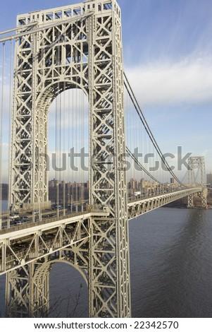 Traffic crossing bridge to NYC