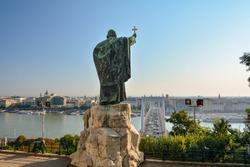 Traffic in Elizabeth Bridge from the Szent Gellert Monument, Budapest