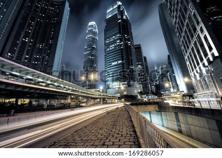 traffic in Hong Kong at night #169286057