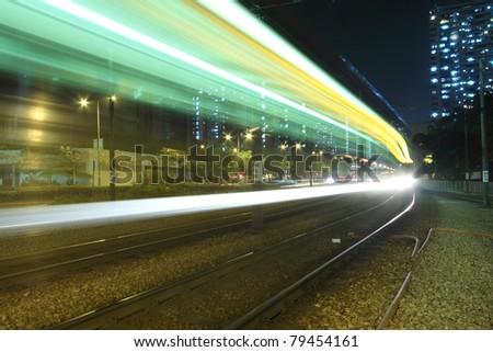 Traffic in Hong Kong, light rail.