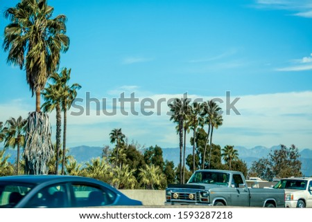 Traffic in Pacific Coast Highway in Southern California, USA stock photo