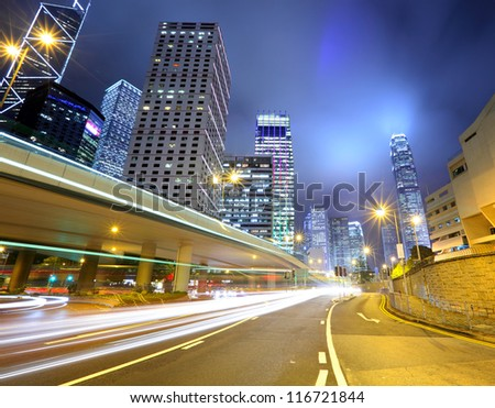 traffic in urban at night