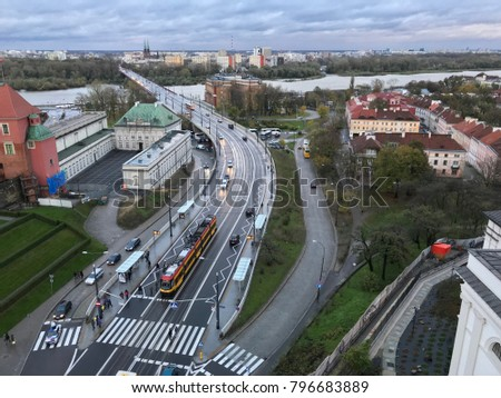 Traffic in Warszawa, Poland #796683889
