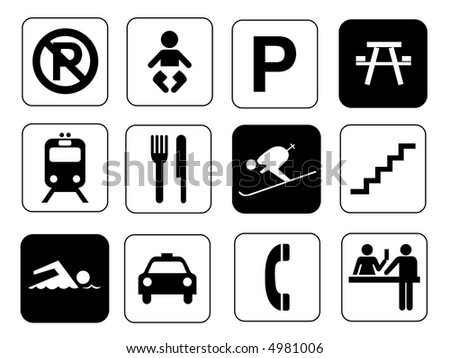 Traffic & Information Signs Collection #11. Isolated Stock Photo ...
