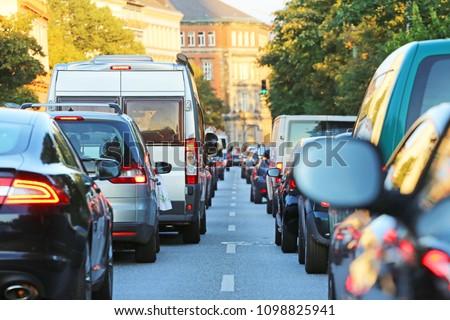 traffic jam in Hamburg #1098825941