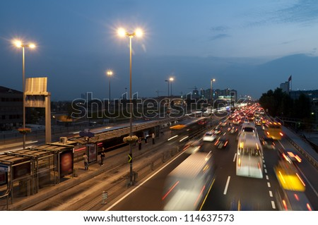 Traffic Jam In Istanbul Turkey