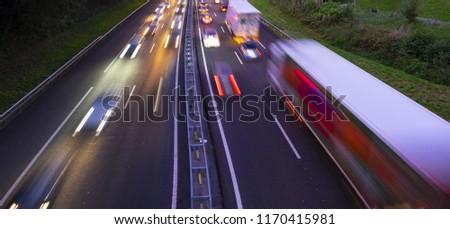 Traffic jam in the rush hour #1170415981
