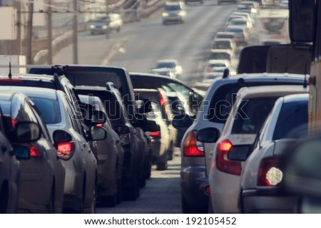 traffic jams in the city, road, rush hour #192105452