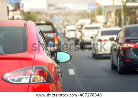 Traffic jams in the city - rush hour