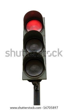 traffic light isolated on white