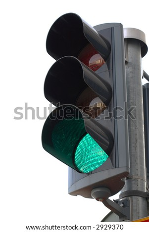 Traffic light, isolated on white