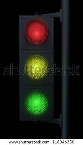 Traffic Light isolated with clipping path