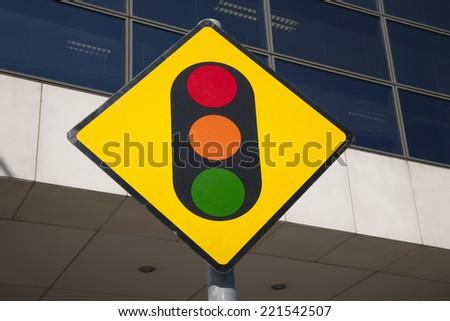 Traffic Light Sign in Urban Setting