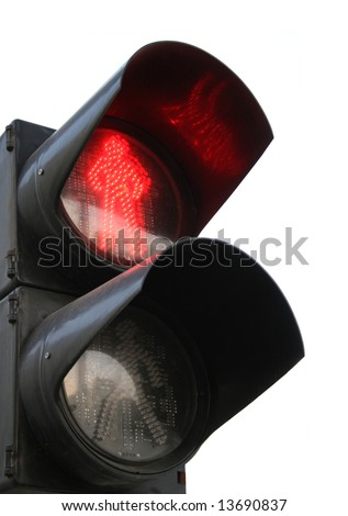 traffic light with red colour