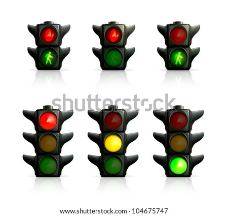Traffic lights, bitmap copy