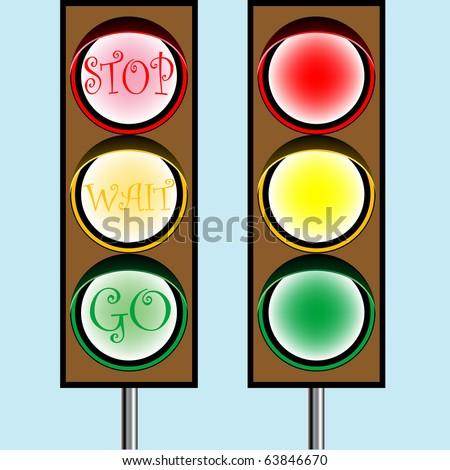 traffic lights cartoon