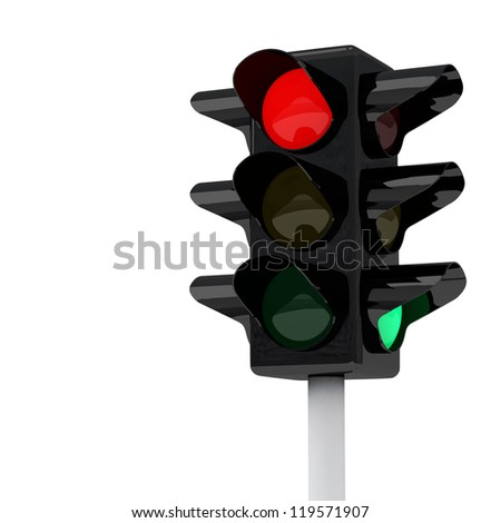 Traffic lights, 3d image