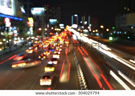 traffic lights in motion blur  #304029794
