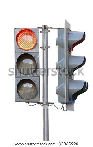 traffic lights under the white background