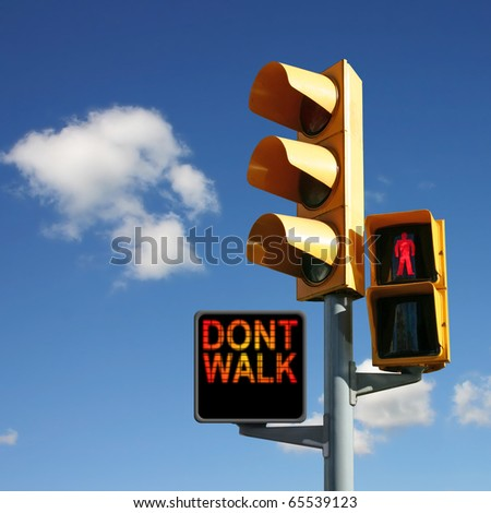 Traffic Lights with Don't Walk and Red Man