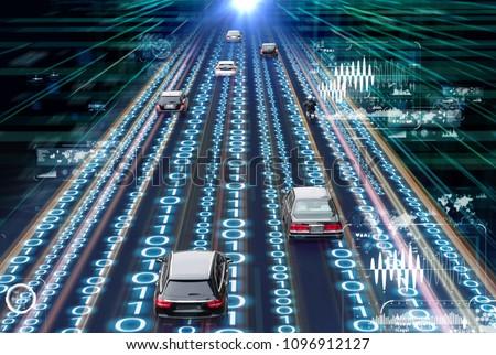 Traffic management system concept. Digital transforamtion.