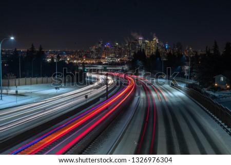 Traffic night shot #1326976304