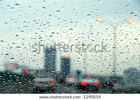 Traffic on a rainy day