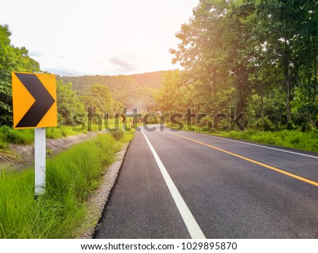 Traffic or transportation, right signs.forward directions on the road, business concept, destinations. #1029895870