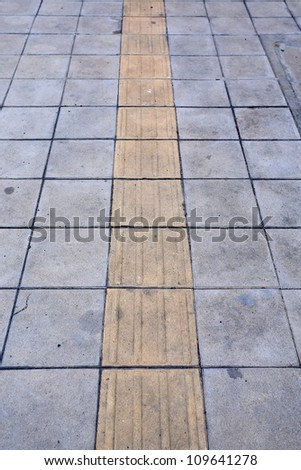 Traffic route for blind peoples