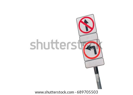 Traffic sign isolated from white background. #689705503