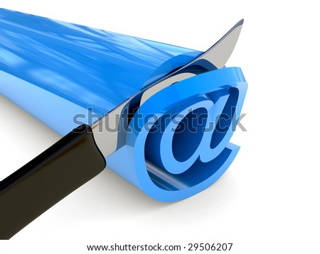 Traffic sign of Internet place on a white background - stock photo