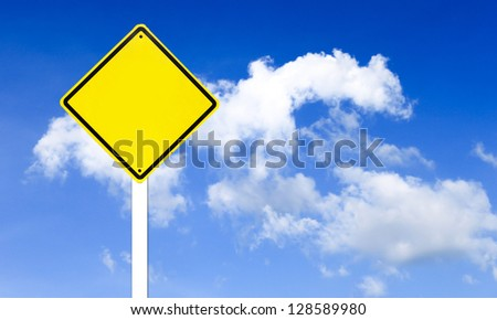 Traffic sign on blue sky