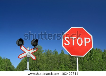 traffic sign on railway stations
