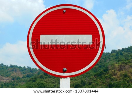 Traffic sign, Prohibited sign