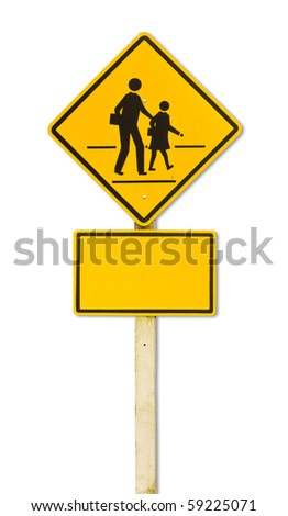 Traffic sign (School warning sign)