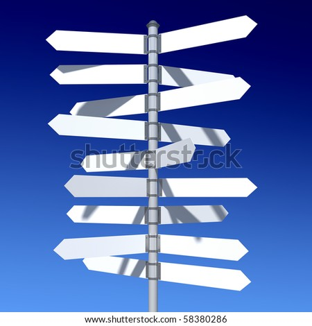 traffic sign standing on the skyline