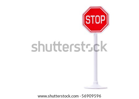 "traffic sign ""stop"" on white background"