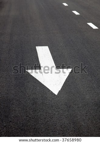 Traffic Signal,go straight  signs arrows on asphalted surface